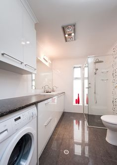Image result for bathroom and laundry room combo designs