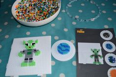 Hama Beads Space Mobile