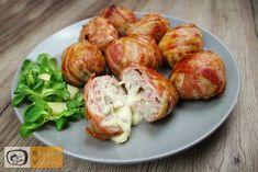 Mit Käse gefüllte Fleischbällchen im Speckmantel - RezeptVideos.com