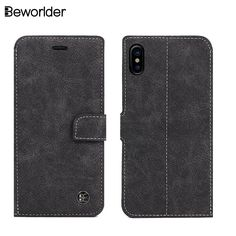 Beworlder For Apple iphone X Case Flip Vintage Hand Made Phone Bags Matte Wallet Soft TPU Cover For iphone X Leather Case //Price: $5.55//     #electonics