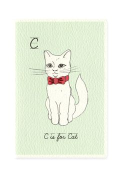 C Is For Cat Card at Urban Outfitters