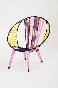 Colour Clocket Basket Chair - Anthropologie