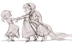 Anna, Elsa, and Rapunzel. The cutest. I'm getting teary eyed. Need to pin and keep scrolling.