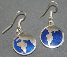 Afrcia Map Earings These beautifully crafted alpaca silver map earrings are handmade in Mexico and are part of our Fair Trade Product List.