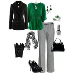 I really need to expand the colors in my closet this green with gray is beeeeautiful