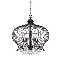 "View the Savoy House 7-6101-5 Abagail 5 Light 26"" Wide 1 Tier Chandelier with Crystal Accents at LightingDirect.com."