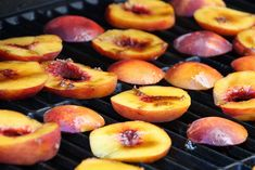 peaches on the grill Vegan Grilling, Vegan Grill Recipes, Recipes For The Grill, Summer Grill Recipes, Grilling Recipes, Healthy Recipes, Cooking Recipes, Grill Time, Bbq Grill