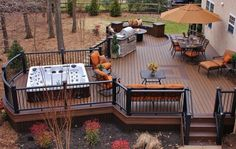 A luxurious deck to say the least!  Jacuzzi, fire pit, grill and  a custom inlay.  This #Trex deck was built by Amazing Decks Deck Builders, a TrexPro Platinum contractor serving Pennsylvania and New Jersey. Click on the photo above to see this contractor's website.