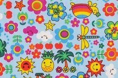 CAC0124 100% Cotton Fabric: All-Over Hawaiian Print Fabric