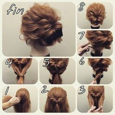 Skip to content 54 cute easy updos for long hair when in a hurry Classy to Cute: Easy hairstyles for long hair for 2017 The light chignon Sweet updos for long hair Easy Bun Hairstyles, Amazing Hairstyles, Step Hairstyle, Hairstyles 2018, Makeup Hairstyle, Easy Formal Hairstyles, Evening Hairstyles, Indian Hairstyles, Easy Wedding Hairstyles