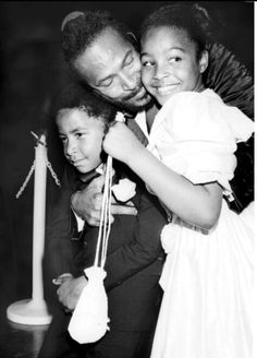 Marvin Gaye, with daughter, Nona and son