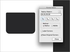 Win/Mac対応、Photoshopで角丸の作成・修正の強力な武器になる機能拡張 -Corner Editor   コリス