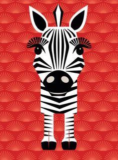 Mibo Card - Zebra