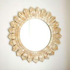 Bone Sunburst Mirror   Wall Decor   Ballard Designs