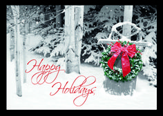 Friendly Welcome Wreath Christmas Cards Holiday Cards