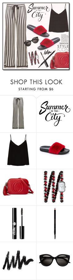 """OOTD by Sasoza"" by sasooza ❤ liked on Polyvore featuring Morgan Lane, Raey, Rasolli, Gucci, Chanel and Charlotte Russe"