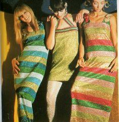 Missoni 1966 - Abiti da sera multicolori in mohair e lurex