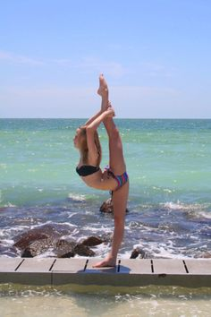 Needle by the sea. #cheerleader #cheerleading #cheer