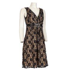 Metallic Lace Sleeveless Dress 30- mm