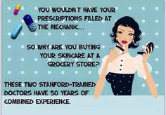 Grocery store skincare brands don't work - Period. Department store and dermatologist office brands are WAY too expensive and do not give NEAR the results that Rodan+Fields gives! If we give you the results you expect, then it's worth EVERY penny. If not, return it - used - and get your money back! (You won't have to though) - Rodan+Fields will give you THE best skin of your life!  www.mkenny1.myrandf.com
