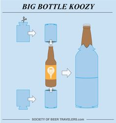 Super clever use of koozies! @theroamingpint  #societyofbeertravelers