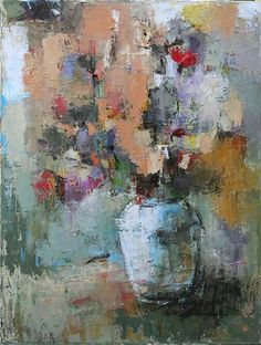 Julia Klimova ~ Solf Talks -- 40 x 30 Paintings I Love, Beautiful Paintings, Arte Floral, Abstract Flowers, Bunt, Flower Art, Amazing Art, Illustration, Creations
