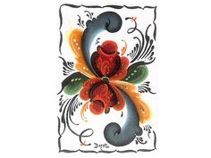 This is an example of Telemark Rosemaling, which is a Norwegian folk art.  I love it.