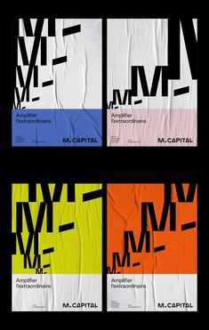 M Capital – Grafikdesign von Brand Brothers - Grafik Design Graphic Design Quotes, Graphic Design Layouts, Graphic Design Projects, Graphic Design Posters, Graphic Design Typography, Layout Design, Branding Design, Minimalist Graphic Design, Bold Typography