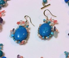 Unique baroque handmade earrings Turquoise by Aura Virginia