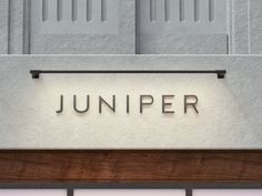 THIN Lighting System & Rail System - What's the Difference? - Rail Outdoor Lighting System by Juniper Shop Signage, Storefront Signage, Wayfinding Signage, Signage Design, Cafe Signage, Banner Design, Sign Lighting, Lighting System, Outdoor Lighting