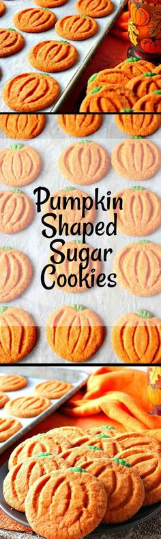 Easy to make pumpkin shaped sugar cookies are as charming as they are delicious. But surprise, don't let them fool you! There is no pumpkin in the ingredient list. - Kudos Kitchen by Renee