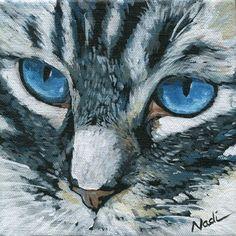 "Daily Paintworks - ""Cat Eyes"" - Original Fine Art for Sale - © Nadi Spencer"