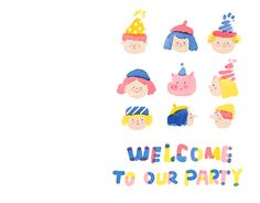 zine: welcome to our party Doodle Drawings, Doodle Art, Cute Drawings, Cute Illustration, Graphic Design Illustration, Korean Painting, Cute Doodles, Book Projects, Illustrations And Posters