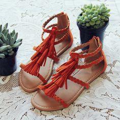 Fescue Fringe Sandals - darling fringe details adorn these braided boho sandals. #vegan www.spool72.com