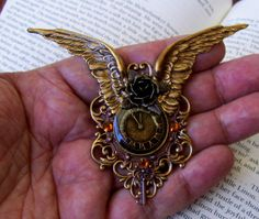 Steampunk Pin M54 Brooch or Pendant Vintage by DesignsByFriston