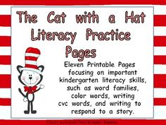 Fun literacy practice activities for Read Across America Day (March 2nd)!! ...