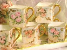 Lovely square tea cups...