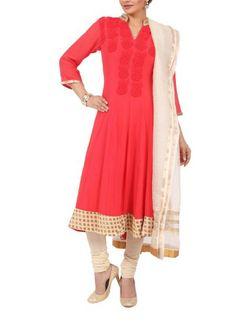 Elegant Pink Panel Suit by Myoho | Indian Designers | Indian Clothes