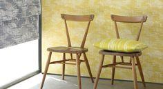Makela Wallcoverings by Villa Nova – James Dunlop Textiles Exterior Design, Interior And Exterior, Outdoor Fabric, Bar Stools, Upholstery, Dining Chairs, Design Inspiration, Indoor, Flooring