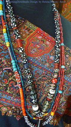 ➳➳➳☮American Hippie Bohemian Boho Bohéme Feathers Gypsy Spirit Style- Jewelry beaded necklaces