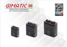 MPBM Series: 2-jaw angular self-centering electric gripper - Pinza elettrica angolare 2 griffe autocentrante #mechatronics #angular #gimatic
