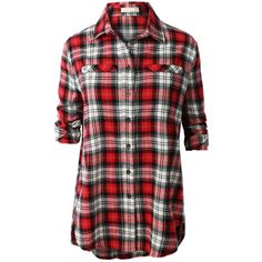 Women's San Francisco 49ers Klew Scarlet Wordmark Flannel Long Sleeve Shirt