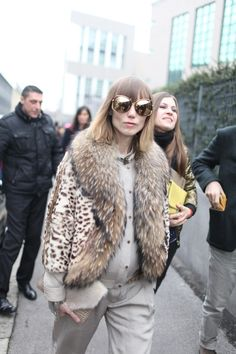 Anya Ziourova during Milan Fashion Week, Fall 2013