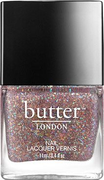 Who says pink glitter nail lacquer can't be girly AND sexy?! This pale pink parade of glitter carries a dash of grey to tone down the sugar and ramp up the spice. Your nails will love you!