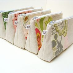 https://flic.kr/p/9s6Umk | Zipper Cosmetic Makeup Bag Pouch Purse | Handmade eco friendly cosmetic makeup pouches that would be a perfect gift for mom, sister, girlfriend, bridesmaids, even yourself. You can even get them personalized with your own message or name for that special someone. Measurements: Approx 8 1/2