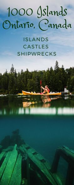 1000 Islands Gananoque Canada kayaking tour, boat cruise and helicopter tour.