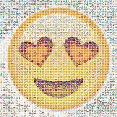 Smiley emoji made out of emojis!