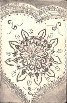 Flower in heart