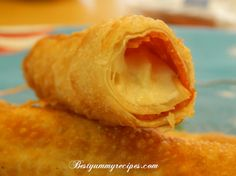 Fried Mozzarella-Pepperoni Egg Roll