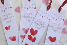 Valentines day bookmarks